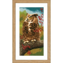Owl in Autumn - Counted...