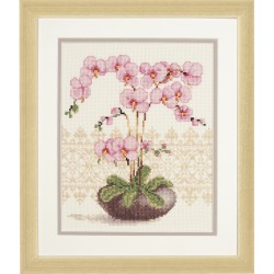 Pink Orchid - Counted Cross...