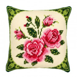 Pink Roses - Chunky Cross...