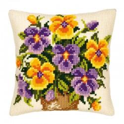 Yellow & Purple Pansies -...