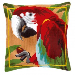 Red Macaw - Chunky Cross...