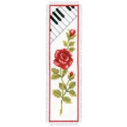 Rose & Piano: Bookmark:...
