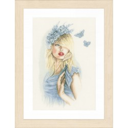 Blue Butterflies (Linen) -...