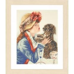 Girl & Dog - Counted Cross...