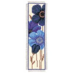 Blue Flowers - 2: Bookmark:...