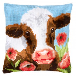 Cow in Poppy Meadow  -...