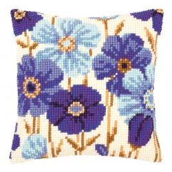 Blue Flowers - Chunky Cross...